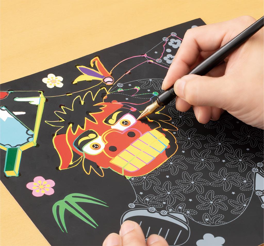 『陸奥新報』にて「楽しく脳トレ  スクラッチアート」が掲載されました。