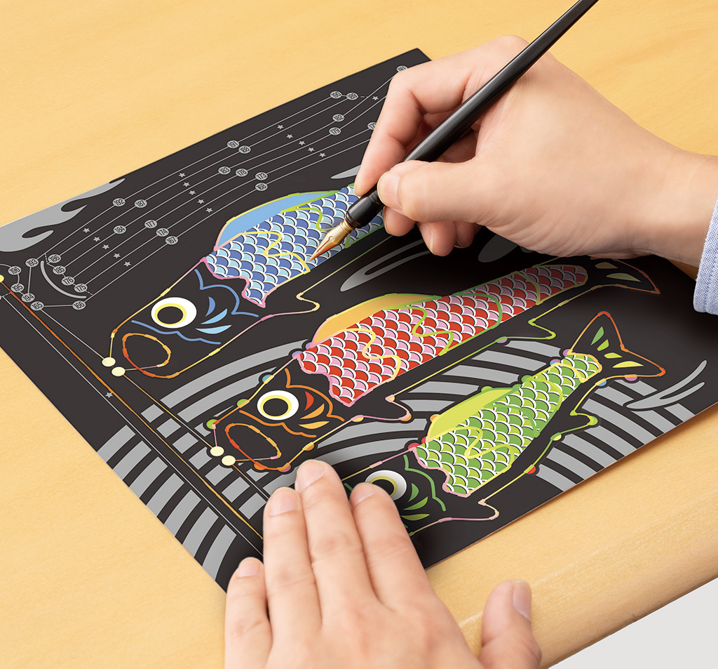 『静岡新聞』にて「楽しく脳トレ  スクラッチアート」が掲載されました。